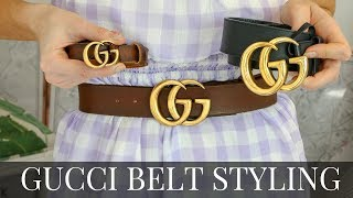 GUCCI BELT STYLING TIPS, REVIEW + SIZING & COLOURS 2019