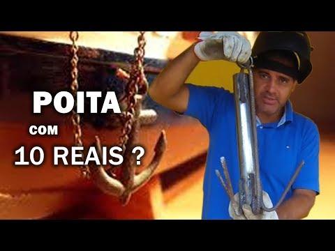 COMO FAZER UMA POITA COM 10 REAIS E SUPORTE PARA REMO Canal Saalada