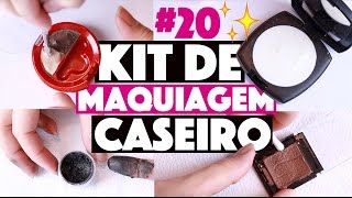 CRIANDO KIT DE MAQUIAGEM CASEIRA SEM GASTAR NADA #20 | KIM ROSACUCA