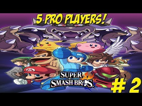 Professional Super Smash Bros. for Wii U! 5 Players Part 2 - YoVideogames