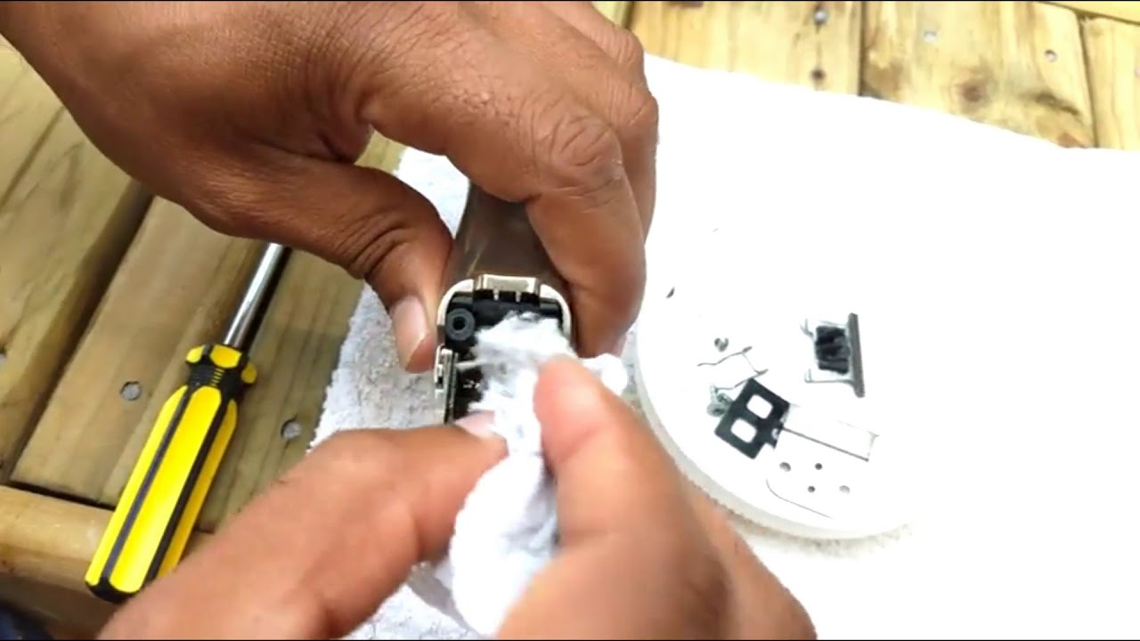 129233f76 manutenção na maquina de acabamento andis slimline pro li bivolt ...