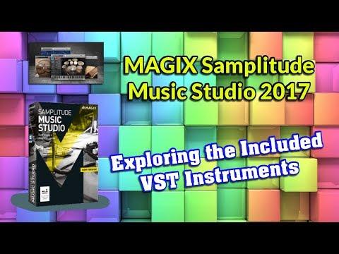 MAGIX Samplitude Music Studio 2017 VST Instruments Demo