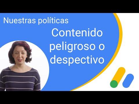 Nuestras políticas: contenido peligroso o despectivo