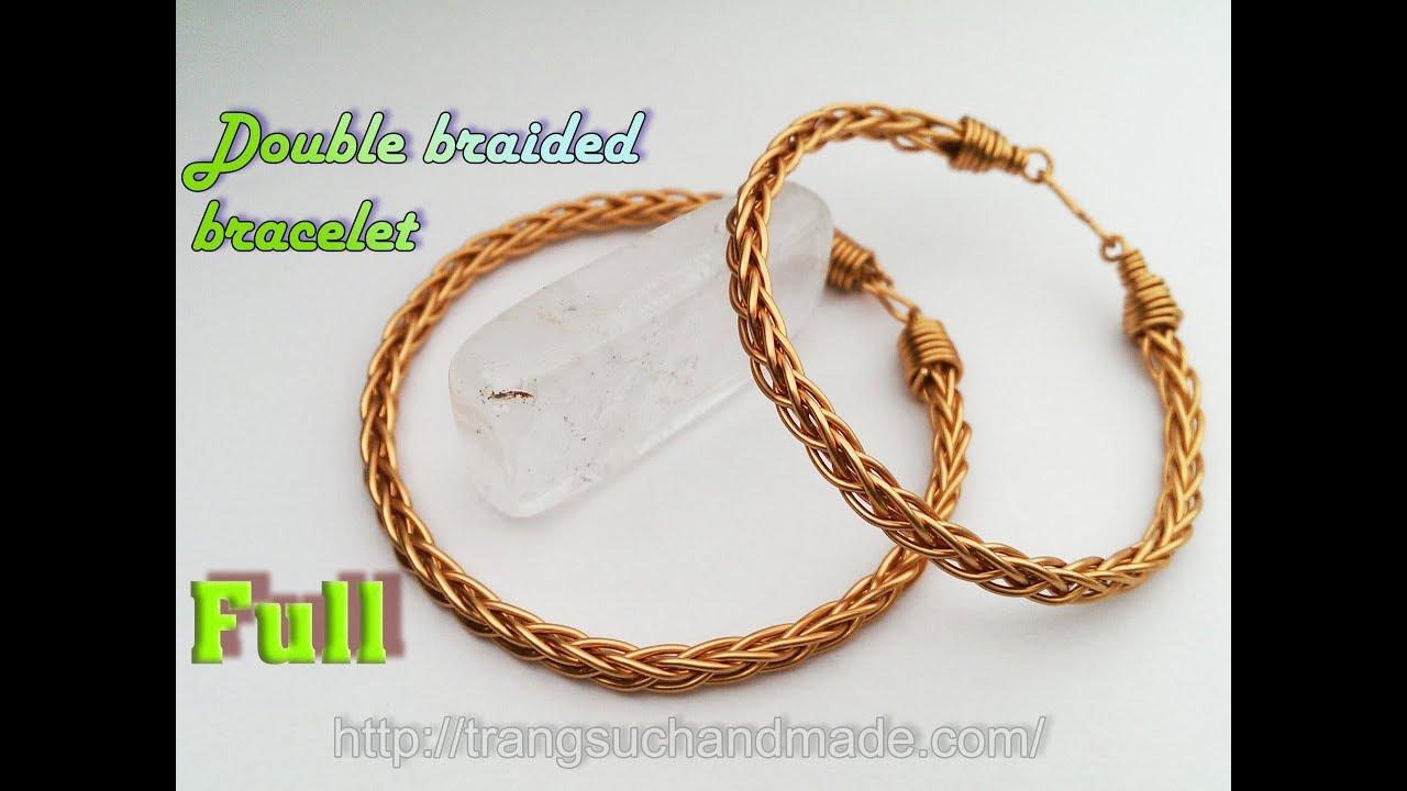 Double Braided Copper Wire Bracelet Uni Jewelry Full Version Slow 374