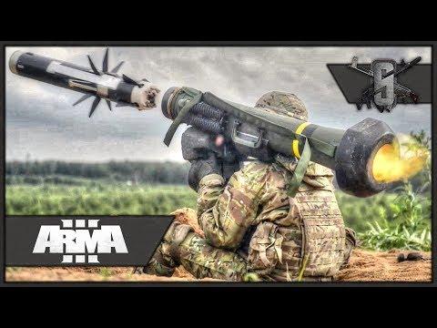 1 Javelin vs Tank Company - ArmA 3 - US Army Infantry Gameplay 1440p60