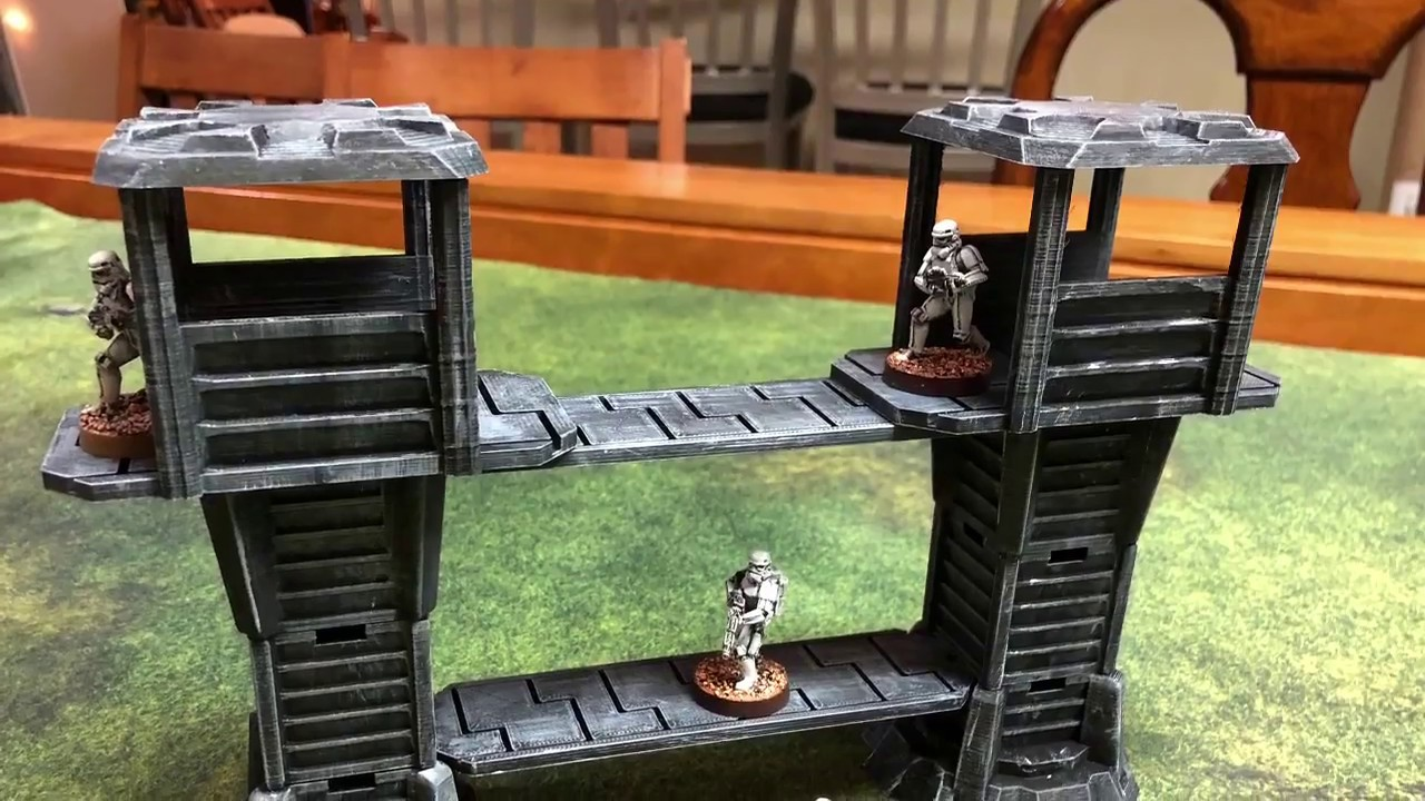 Imperial Outpost Wargaming Terrain for Sci-Fi Settings