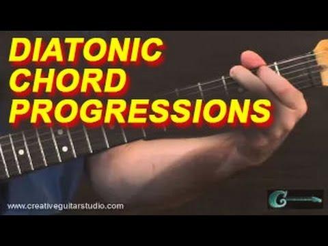 Rhythm Guitar Diatonic Chord Progressions Youtube