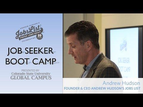 Andrew Hudson's Job Seeker Boot Camp
