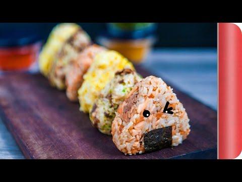 Multicoloured Onigiri (Japanese Rice Balls)