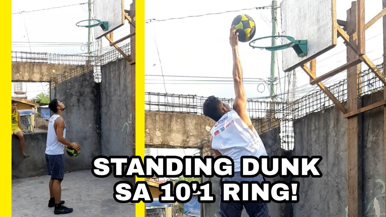 OFF VERT DUNK ATTEMPTS ON 10'1 RING | Darwin Dunks