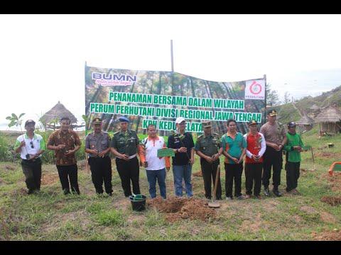 Penanaman Bersama Rehabilitasi Hutan Lindung Perhutani KPH Kedu Selatan Tahun 2019