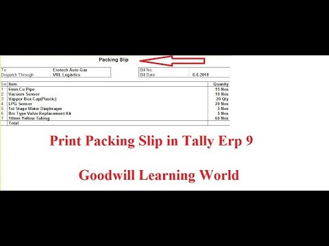 tally tdl for packing slip and invoice two in one print tally add