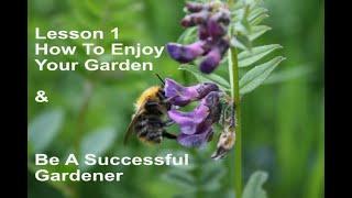 Gardening lesson 1 Balance. How To Enjoy Your Garden