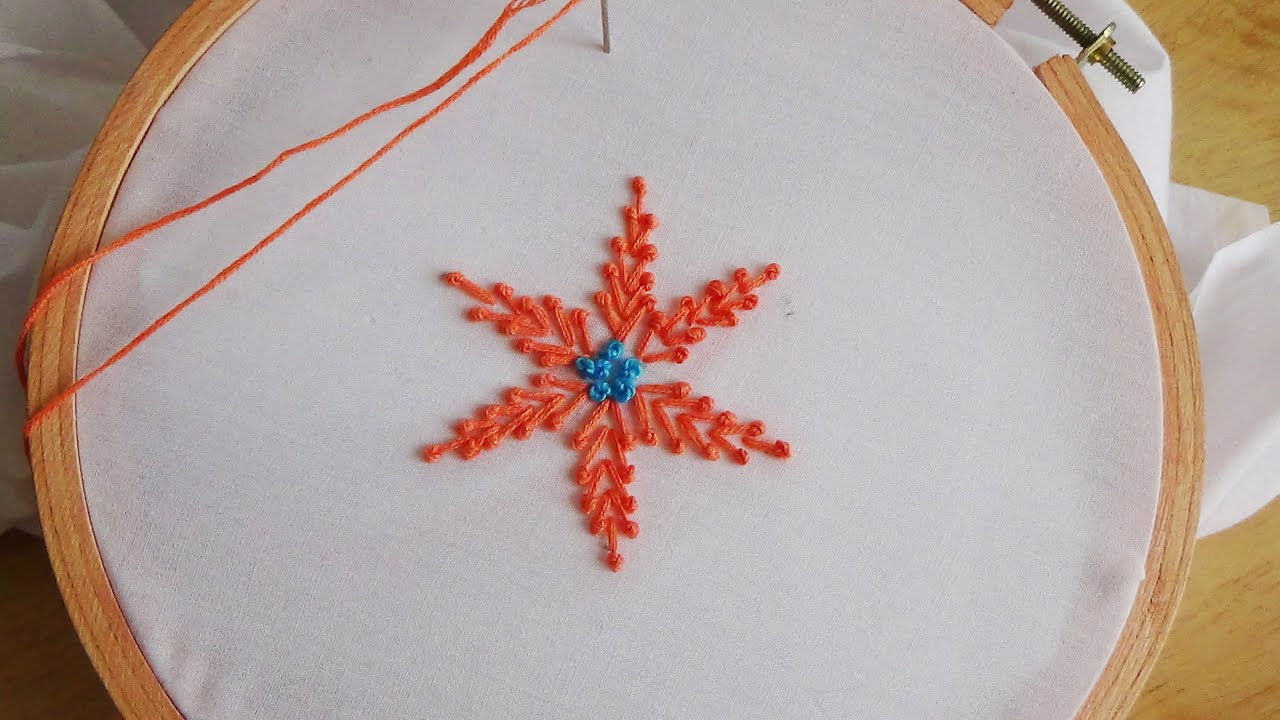Hand Embroidery Pollin Stitch - YouTube