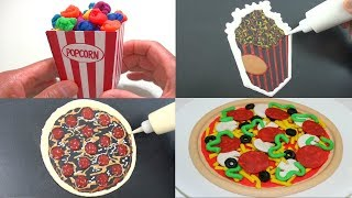 Play Doh Art, Pancake Art - Popcorn, Pizza | Art for Kids