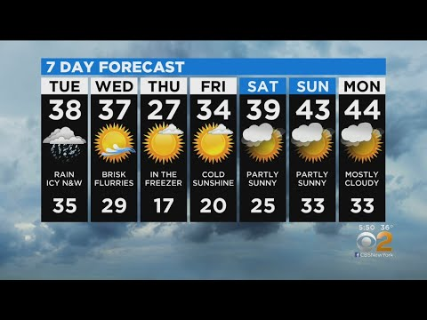 New York Weather: CBS2 12/16 Evening Forecast At 5PM