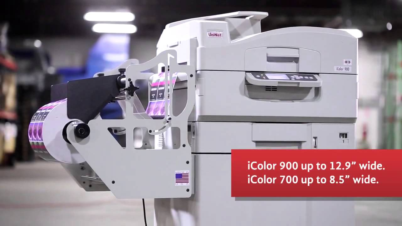 Icolor 700 Color Digital Label Printer Youtube