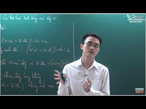Phương pháp giải bài toán tính tổng của dãy số - Dãy số lớp 5 - Liên hệ 0932393956