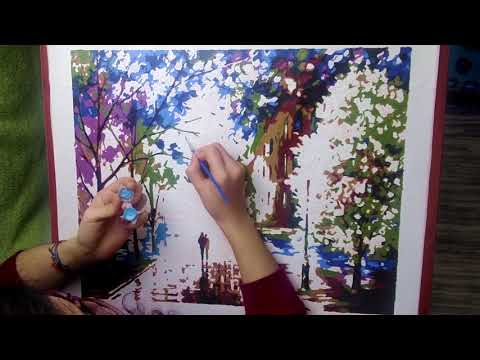 Paint by Numbers Kit Timelapse | Leonid Afremov's Freshness of Cold