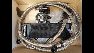 Установка масло-кулера Perrin oil cooler и термостат Mishimoto 68 на H6 EZ30 Subaru Legacy Spec.B