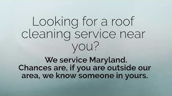 Roof cleaning service near me | Maryland