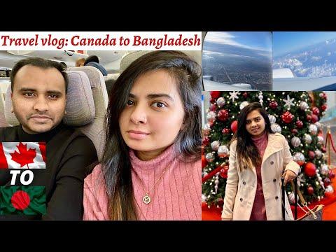 Traveling From Canada To Bangladesh | Emirates Airbus A380 | Saint John| Toronto| Dubai | Dhaka | NB