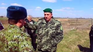 Встреча Российских и Украинских пограничников в Новоазовском районе около села Ковское