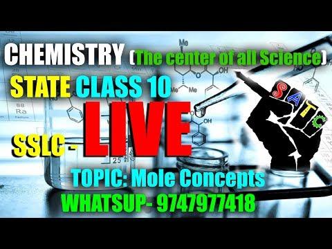 LIVE chemistry Chapter 2 Mole Concept Important Questions@10 pm