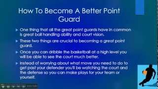How To Become A Better Point Guard