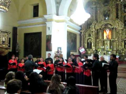 Jacinto Chiclana -- coro de madrigalistas de la PUCP