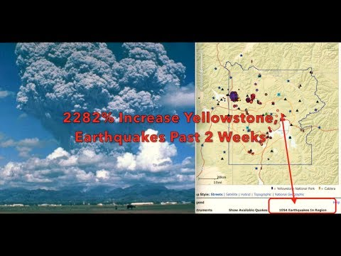 Its Hot  2282% Increase in Earthquakes Around Yellowstone Past 2 Weeks  June 2017
