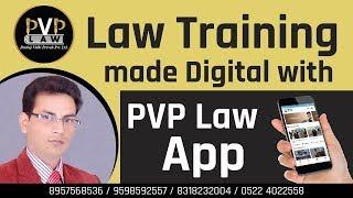 #Law #LawLectures #PVPLaw Law Training made Digital with PVP Law App   Pankaj Kumar Tripathi