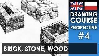 Drawing tutorial - Brick, stone & wood | Kurs rysunku - Cegła, kamień i drewno [S01E04 ENG/PL]