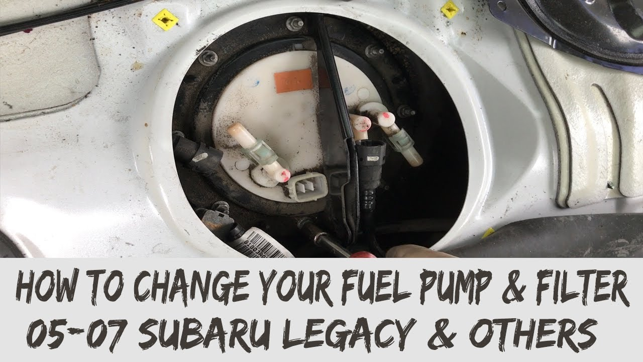 medium resolution of removal of your fuel pump fuel filter 2005 09 subaru legacy gt youtube