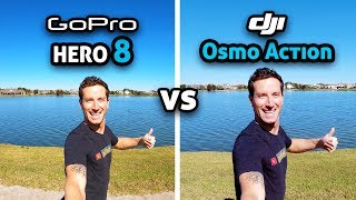GoPro HERO 8 vs DJI Osmo Action!