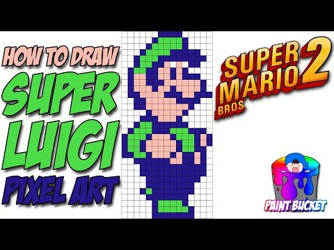 How To Draw Super Luigi From Super Mario Bros 2 Nintendo 8 Bit