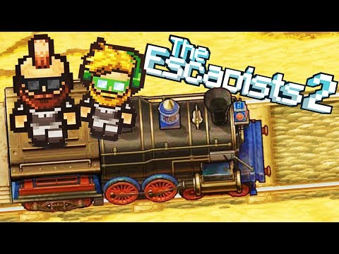 The Great TRAIN Robbery!  Prison Train!  (Escapists 2 Multiplayer Gameplay)