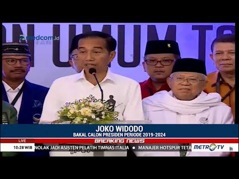 Pidato Jokowi Di Gedung KPU Usai Resmi Mendaftar Capres