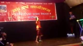 Shristi dancing in New year program