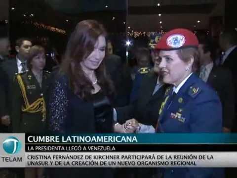 Arribo de Cristina Fernández a Venezuela