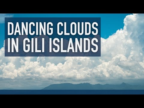 Dancing clouds in Gili Islands: a time lapse short movie (4K timelapse)
