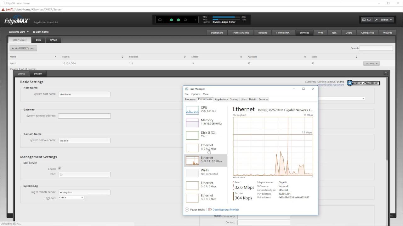 How to install Ubiquiti EdgeMAX EdgeRouter firmware v1 9 1 onto UBNT  ERLite-3