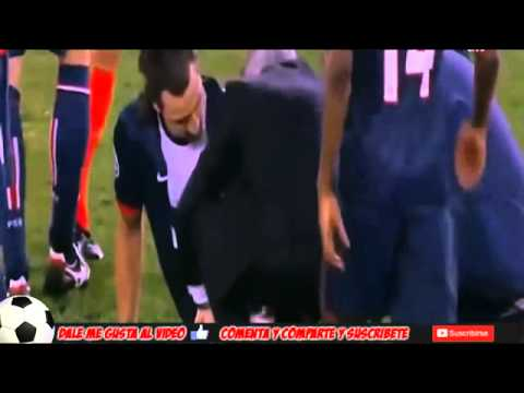 Zlatan Ibrahimovic Injury ◘ Zlatan Ibrahimovic Lesion PSG vs Chelsea 3 1 02 04 2014