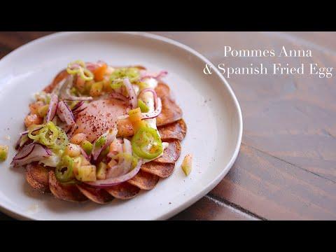 Pommes Anna & Spanish Fried Egg