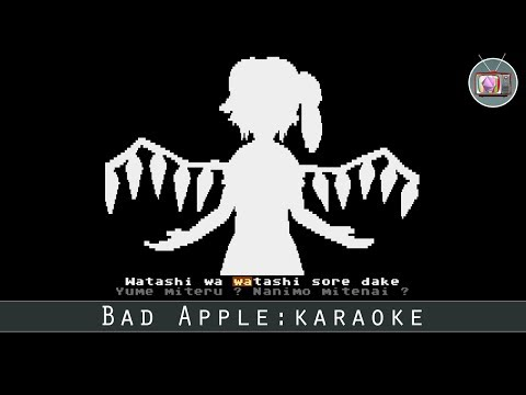 Bad Apple: Karaoke by R0ger, 2017 | Atari 8 bit Demo