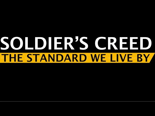 soldiers creed video, soldiers creed clip