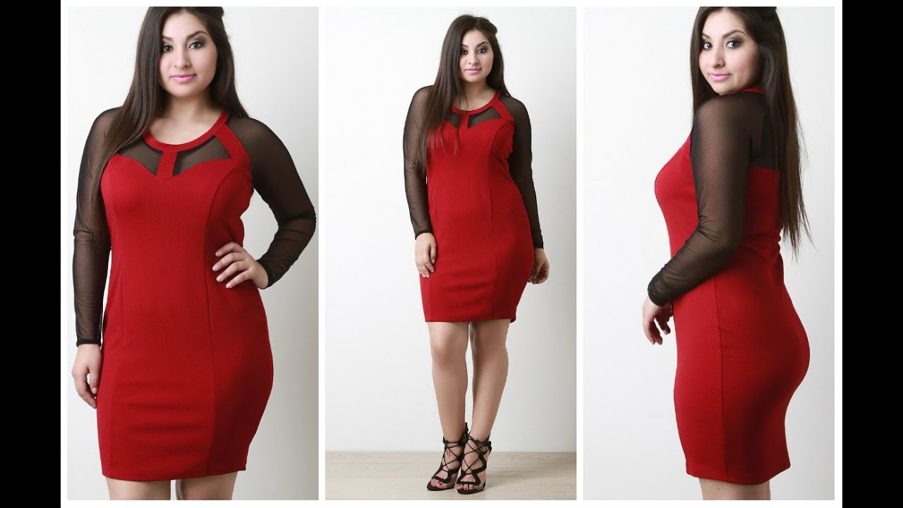 Dresses For Curvy Women - Curvy Girls Dresses - Plus Size -1354