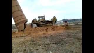 Демонтаж  кирпичной дымовой трубы  г.Рязань