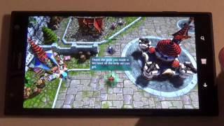 Heroes of Order & Chaos: Windows Phone gameplay