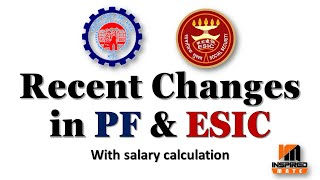 Recent changes in PF & ESIC | PF & ESIC New rates